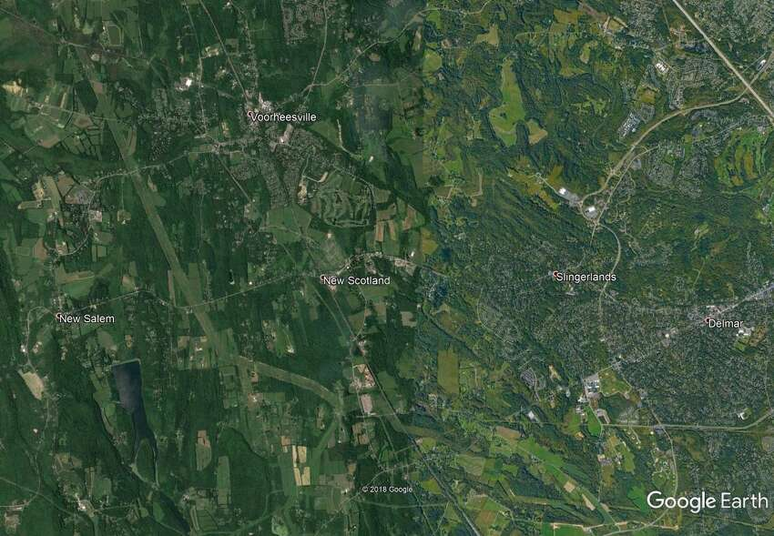 Satellite photo of New Scotland