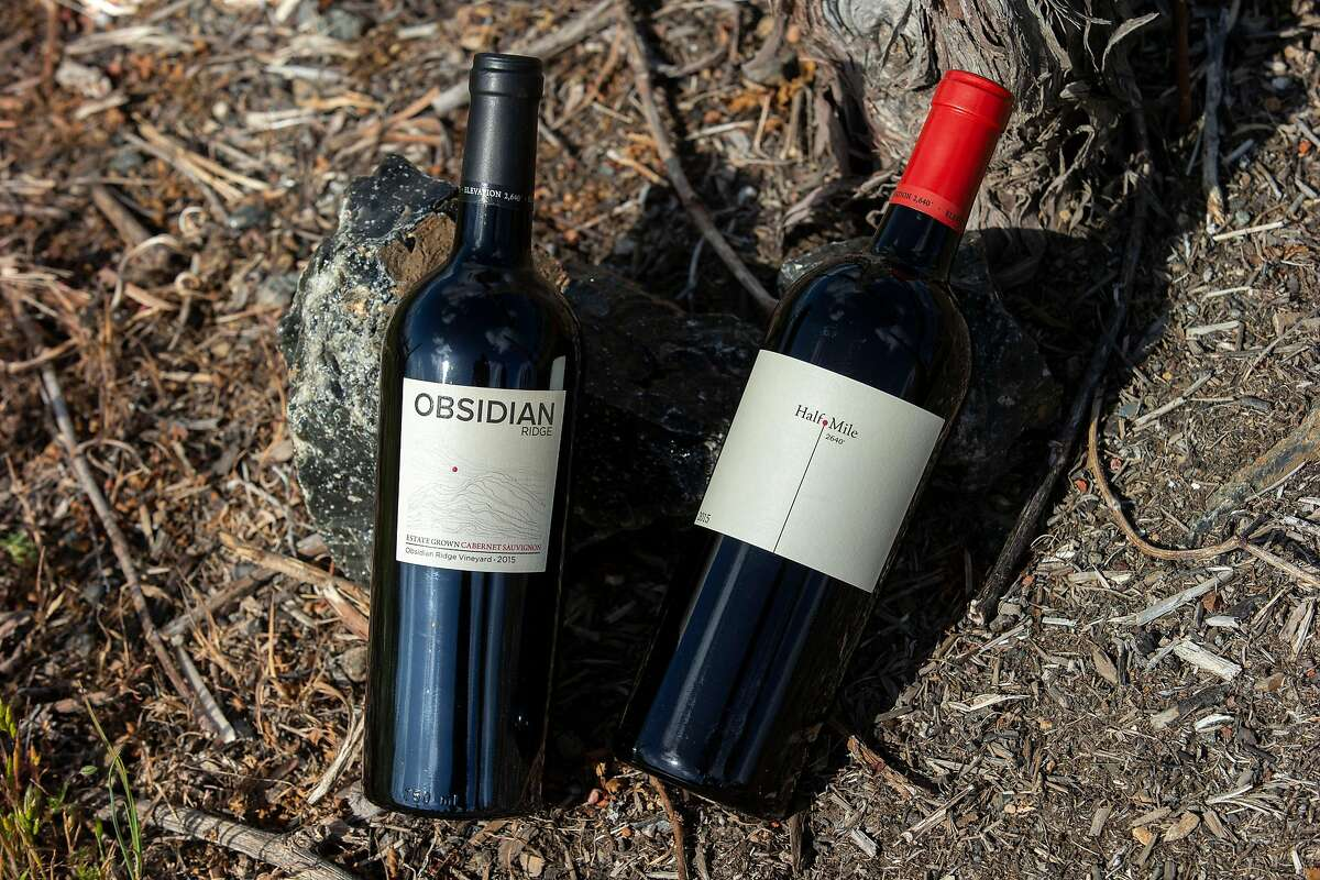 At $32, the Obsidian Ridge Cabernet (left) is one of California's best-value Cabs. The $65 Half Mile is the winery's higher-end bottling.