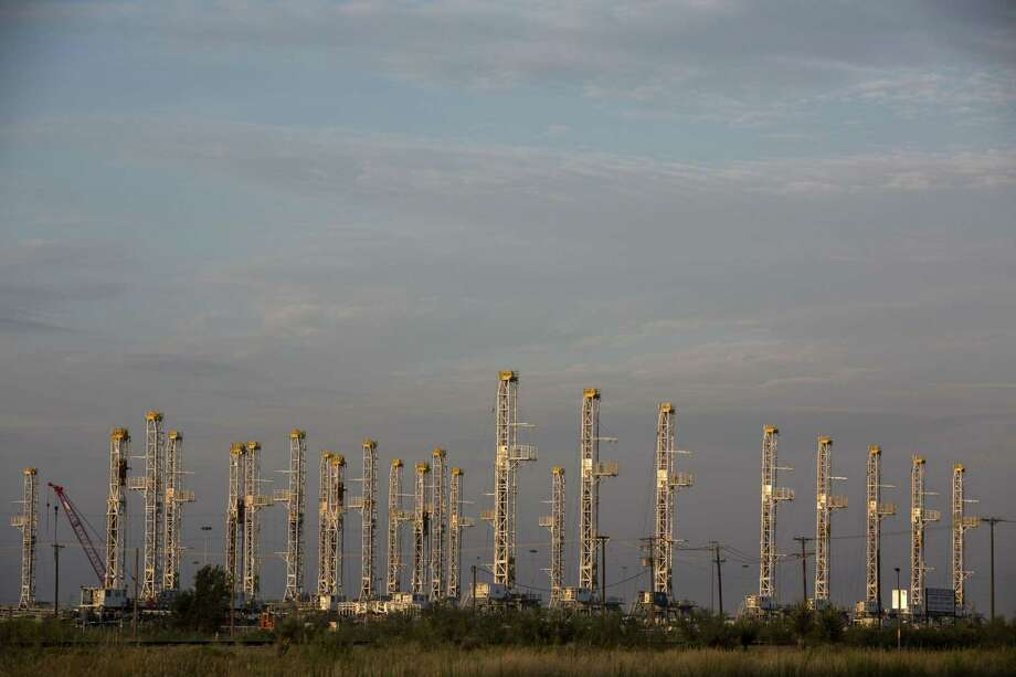 File photo of dozens of idle rigs at a Helmerich & Payne yard in Odessa, Texas. The West Texas oil city ranked No. 1 for prosperity between 2000 and 2016 according to a recent study by RentCafé Blog. Photo: Carolyn Van Houten /Carolyn Van Houten / 2016 San Antonio Express-News