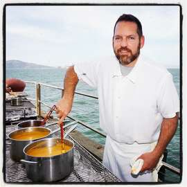 NoPa chef Laurence Jossel whips up Mediterranean fish stew at the Star Chefs & Vintners Gala. May 20, 2018.