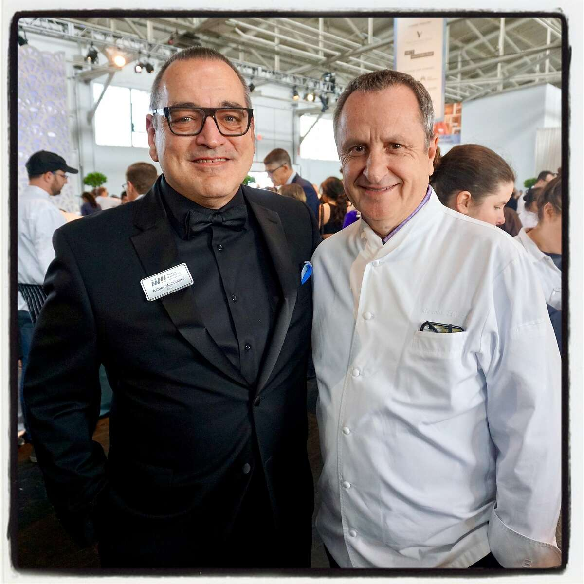 Meals on Wheels CEO Ashley McCumber (left) and Piperade chef Gerald Hirigoyen at the Star Chefs & Vintners Gala. May 20, 2018.