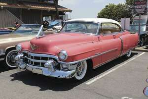 This salmon pink 1952 Cadillac was one of the classic Caddys on display for the day. (Heidi Van Horne photo)