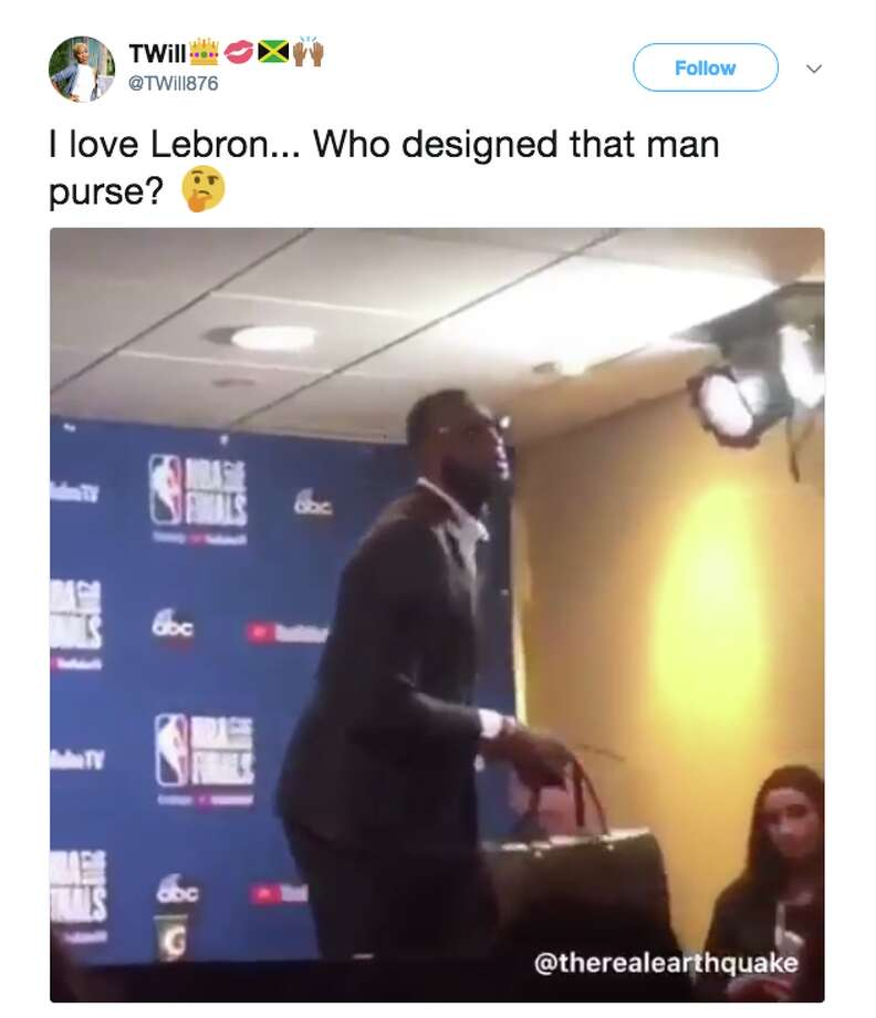 4f39aed5a67 LeBron James grabbing his purse and walking out of a press conference is the  internet s new