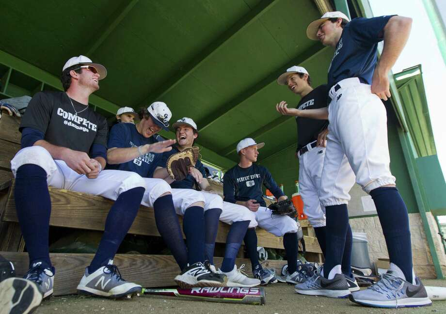 College Park players joke around before a District 12-6A high school baseball game, Friday, March 30, 2018, in The Woodlands. Photo: Jason Fochtman, Staff Photographer / Houston Chronicle / © 2018 Houston Chronicle