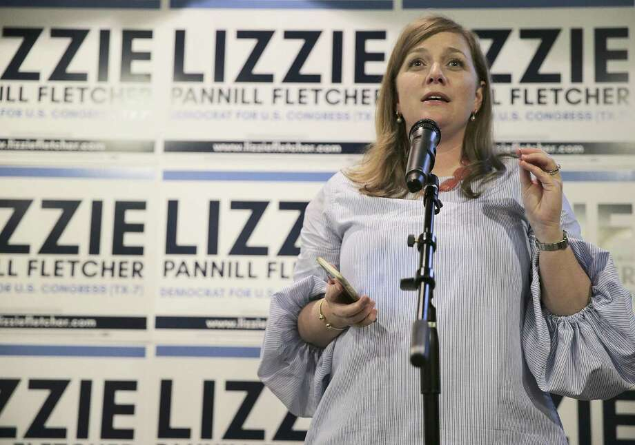 Lizzie Pannill Fletcher gives an acceptance speech during her election night party at Buffalo Grill on Tuesday, May 22, 2018 in Houston. Fletcher was in a runoff to be the democratic candidate for Texas' seventh congressional district against Laura Moser. (Elizabeth Conley/Houston Chronicle via AP) Photo: Elizabeth Conley, MBO / Associated Press / '2018 Houston Chronicle