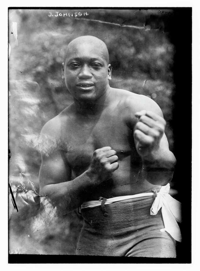 In an undated photo in the Library of Congress, Jack Johnson, the first black heavyweight boxing champion. Photo: BAIN NEWS SERVICE/LIBRARY OF CONGRESS, HO / NYT / BAIN NEWS SERVICE/LIBRARY OF CONGRESS