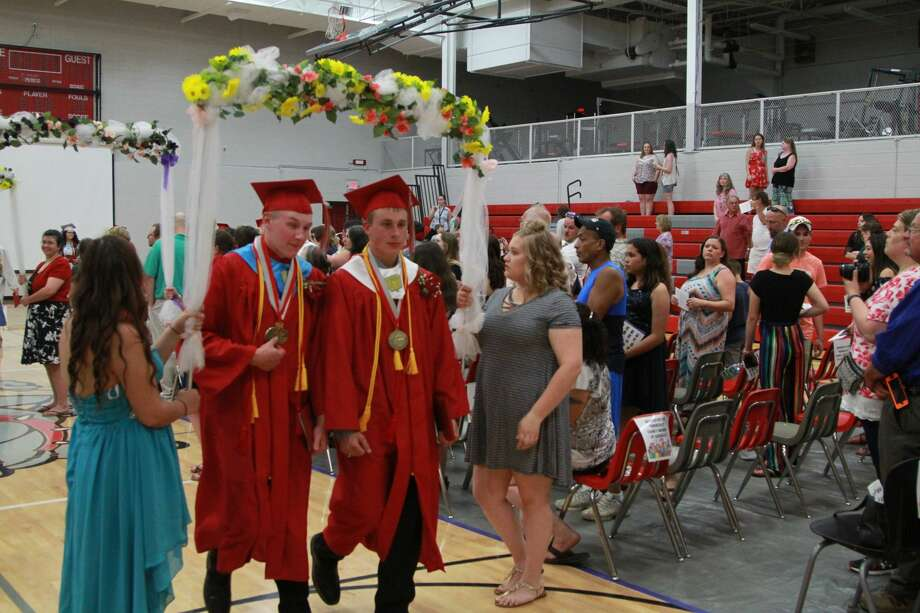 These are scenes from Owendale-Gagetown's graduation ceremony on Thursday. Photo: Coulter Mitchell/For The Tribune