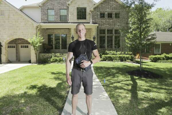 Brett Waits rescued neighbors from flooded homes in the Linkwood neighborhood during and after Hurricane Harvey. In the weeks after, while helping others clean out wet and moldy homes, Waits suffered mold poisoning that nearly killed him. He still takes several prescription medications and wears a catheter that pumps milrinone, a powerful drug that treats heart failure, into his body every five minutes.