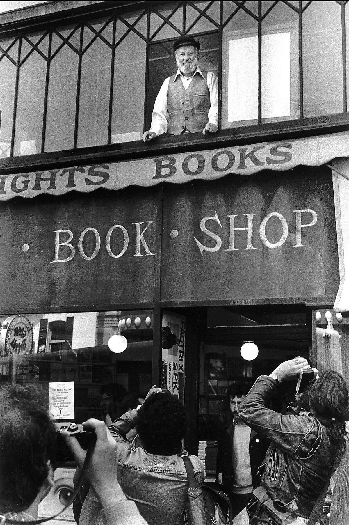 Lawrence Ferlinghetti at City Lights in 1982.