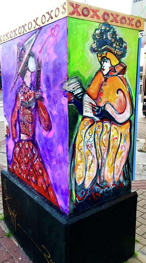Darrell Troppy's Utility/Traffic Box at Calder and 10th Street. Photo: Shelly Vitanza