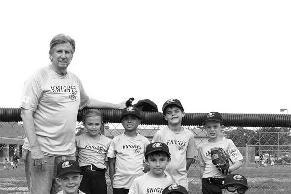 """David Bernsen with his West End Little League """"Knights""""!"""