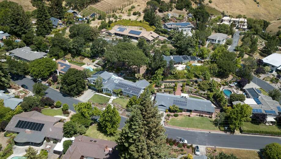 Houses in San Anselmo, which ranks at the least diverse community in the Bay Area. Photo: Josh Edelson / San Francisco Chronicle