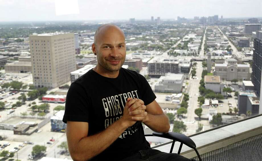 Dmitry Krivonos is the first entrepreneur in Start@Softeq, a new four-month program focused on cybersecurity, Internet of Things and robotics startups, Thursday, May 31, 2018, in Houston. ( Karen Warren / Houston Chronicle ) Photo: Karen Warren,  Staff / Houston Chronicle / © 2018 Houston Chronicle