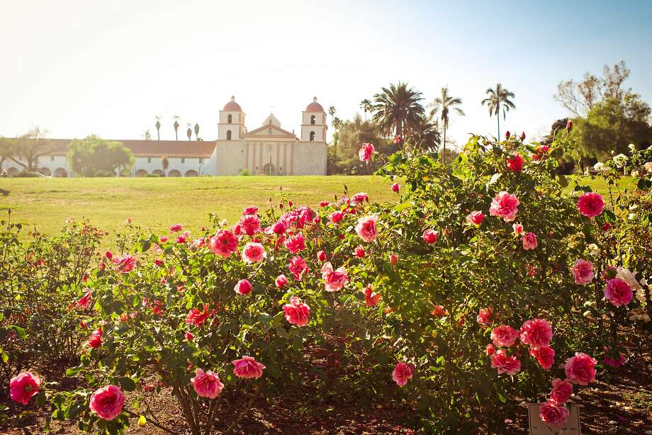 The A.C. Postel Memorial Rose Garden contains more than 1,500 rose plants and is located next to Old Mission Santa Barbara. Photo: Gabriela Herman, Visit Santa Barbara