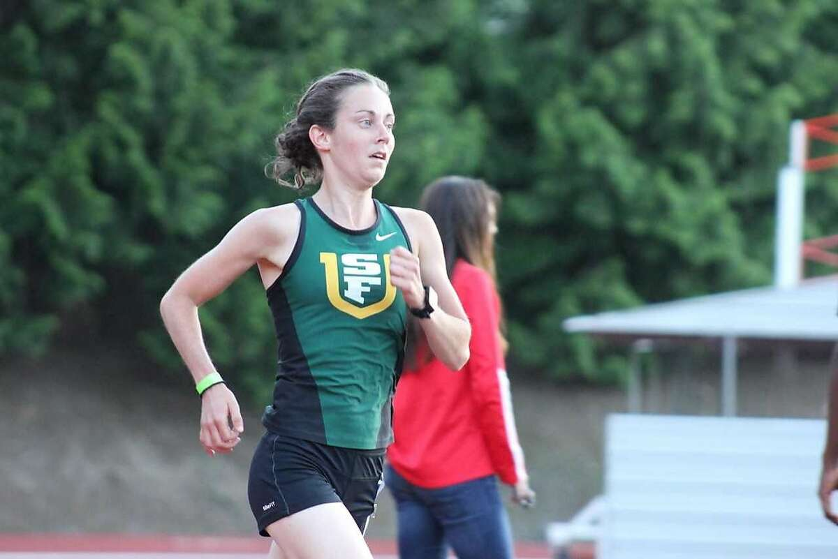 USF's Charlotte Taylor, a native of England, will try to defend her national title in the 10,000 meter run in the NCAA track and field championships Wednesday at Eugene, Ore.