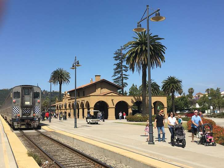 The Amtrak station in Santa Barbara, where the train delivers riders within steps of the city's downtown and newest attractions.