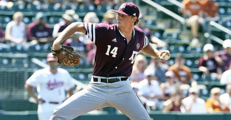 John Doxakis gets the start for the Aggies as Texas A&M plays Indiana at Disch-Falk Field in Austin in the first round of the NCAA Regional playoffs on June 1, 2018. Photo: Tom Reel/San Antonio Express-News