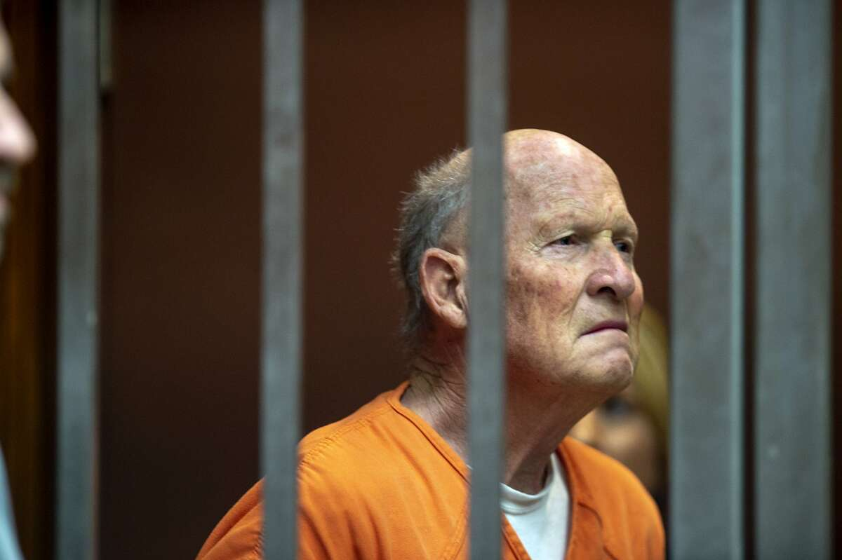 Joseph James DeAngelo appears in Sacramento Superior Court, Friday, June 1, 2018, in Sacramento, Calif. He is suspected in at least a dozen killings and roughly 50 rapes in the 1970s and '80s. (Jos� Luis Villegas/The Sacramento Bee via AP, Pool)