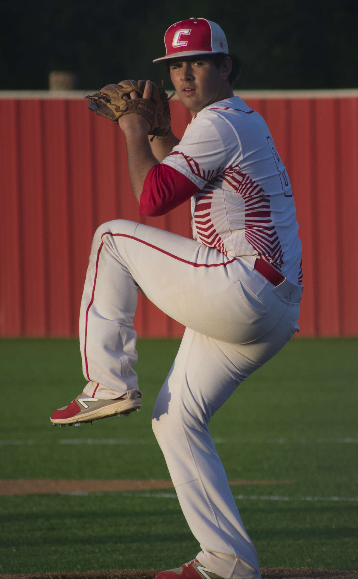 Coahoma pitcher Logan Franklin delivers an offering during an April 3 home game against Colorado City. Courtesy photo