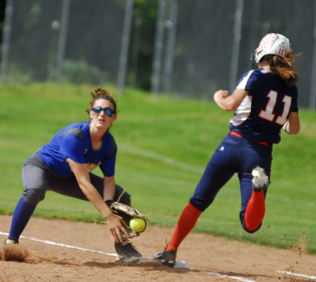 Action from Brookfield's 6-0 win over Lyman Hall on Friday.