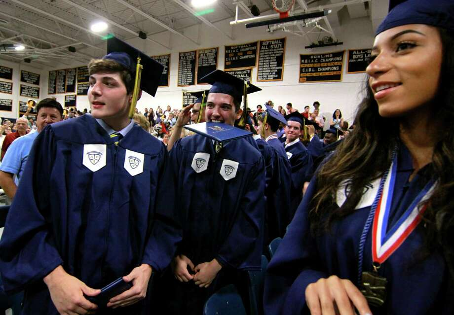 Notre Dame of Fairfield's Class of 2018 Commencement Exercises in Fairfield, Conn., on Friday, June 1, 2018. Photo: Christian Abraham, Hearst Connecticut Media / Connecticut Post