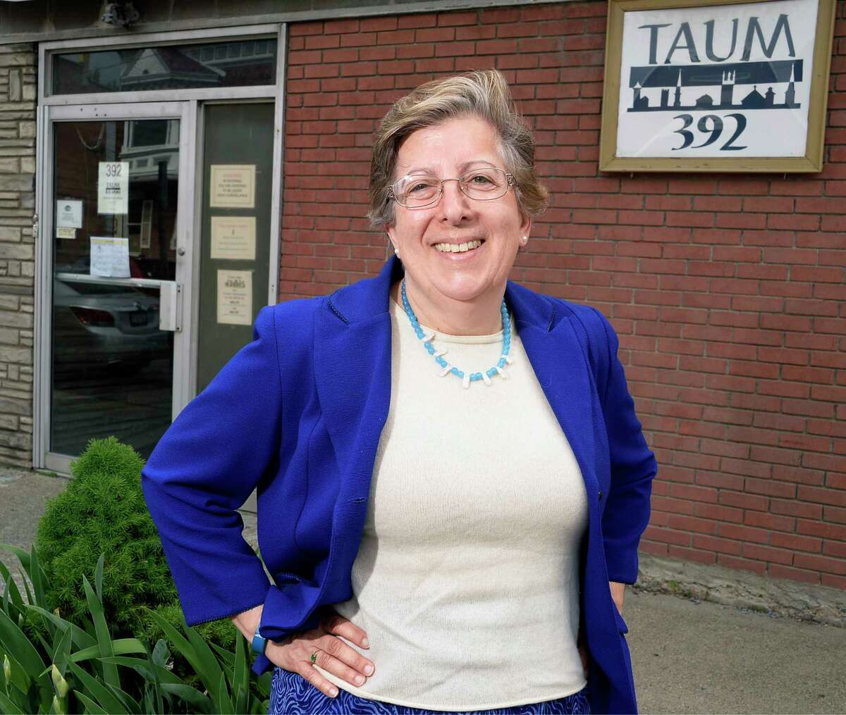 The Rev. Donna Elia outside Troy Area United Ministries Thursday May 31, 2018 in Troy, NY. (John Carl D'Annibale/Times Union)