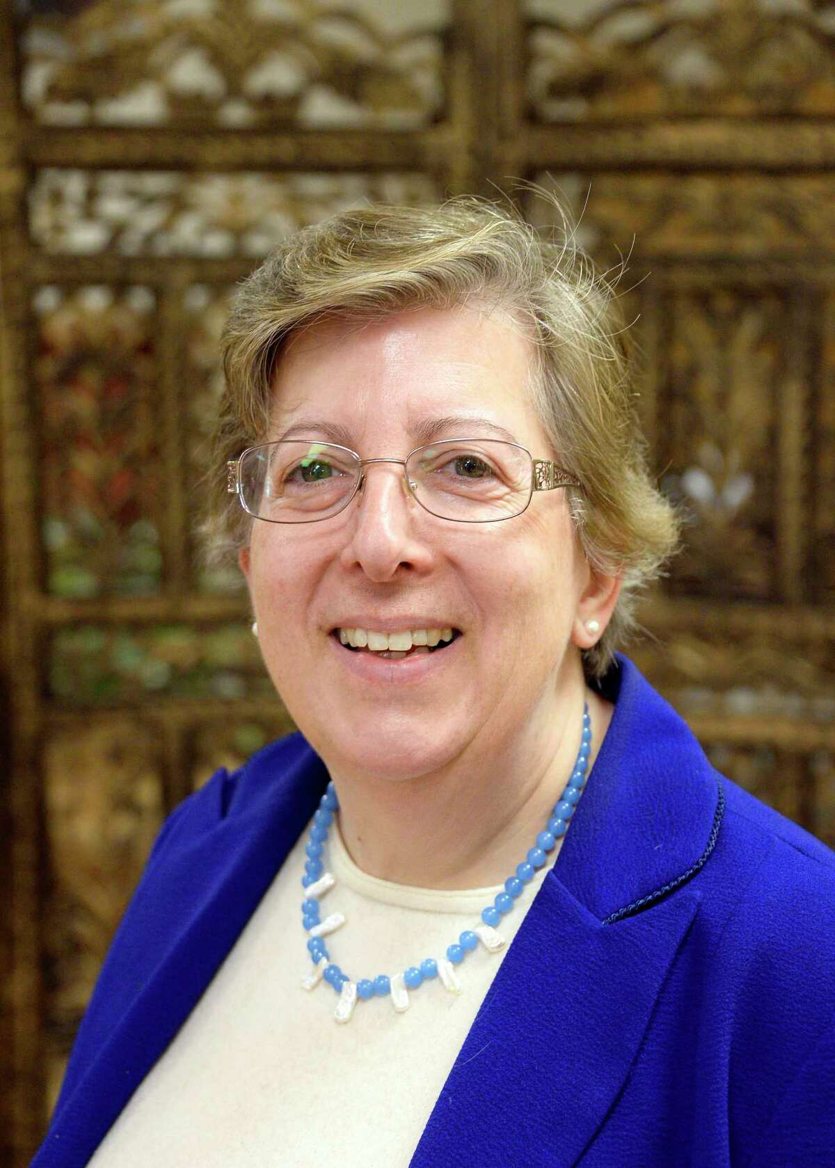 The Rev. Donna Elia at Troy Area United Ministries Thursday May 31, 2018 in Troy, NY. (John Carl D'Annibale/Times Union)