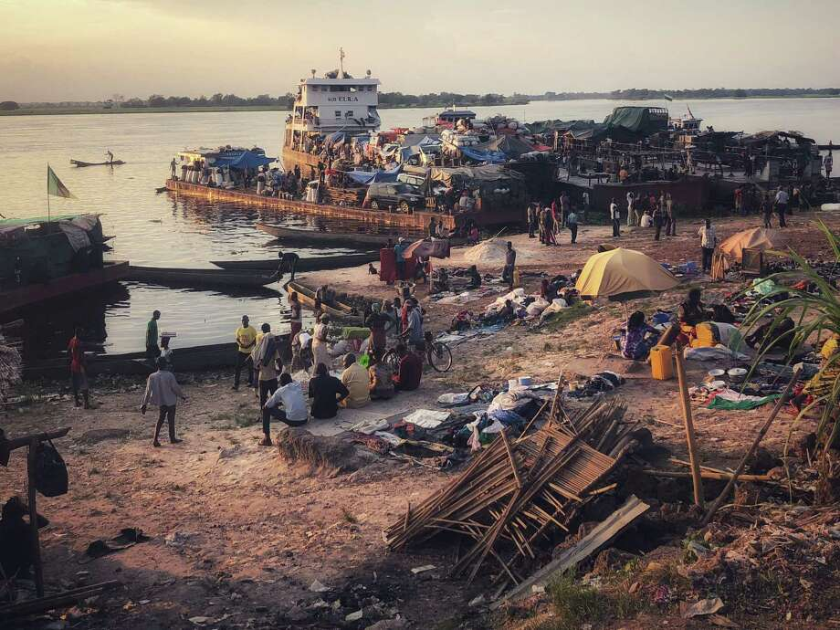 Mbandaka is a city of nearly 1.2 million along the banks of the Congo and Ruki rivers. Most people travel through the region by boat. Photo: Washington Post Photo By Max Bearak / Max Bearak