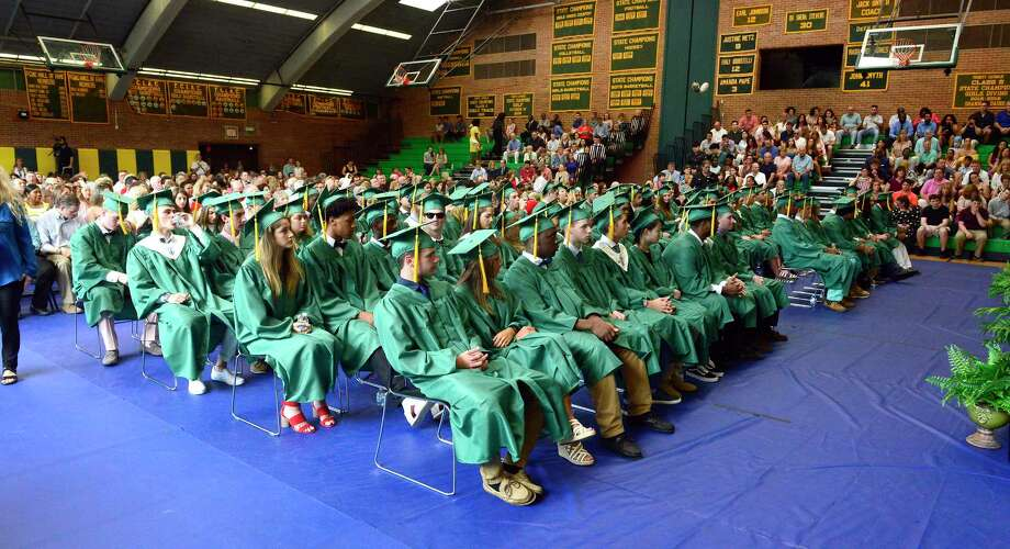 Trinity Catholic High School Class of 2018 commencement exercises on June 2, 2018 in Stamford, Connecticut. Photo: Matthew Brown, Hearst Connecticut Media / Stamford Advocate