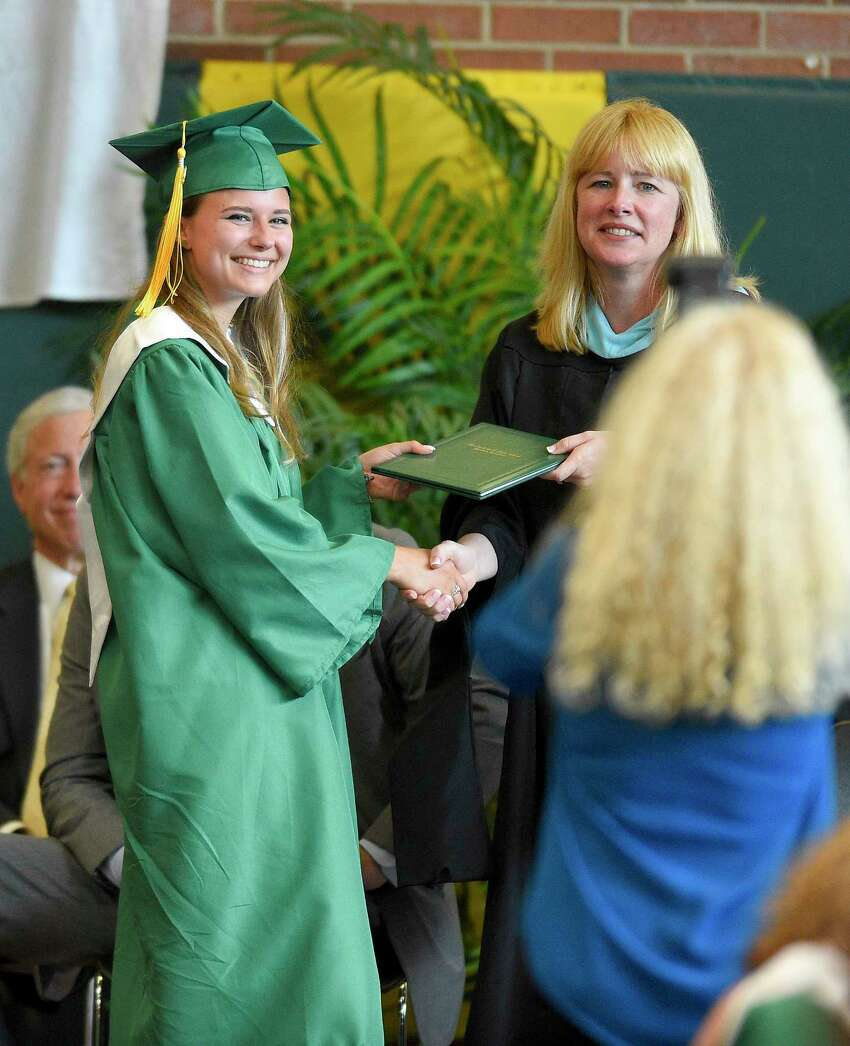 Trinity Catholic High School Class of 2018 commencement exercises on June 2, 2018 in Stamford, Connecticut.