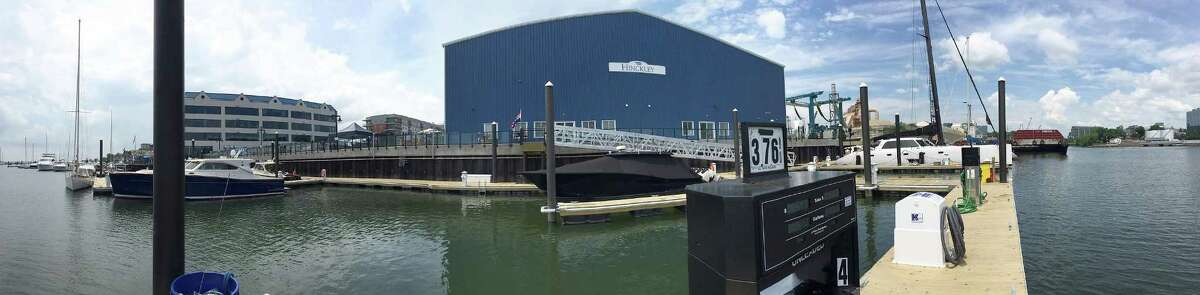 The grand opening of Hinckley boatyard took place on Saturday in Stamford. The new waterside boatyard, considered by many as a replacement for the one tore down in the South End, features an indoor storage, repair and maintenance facility with a state-of-the-art painting booth and fuel depot for area boaters.