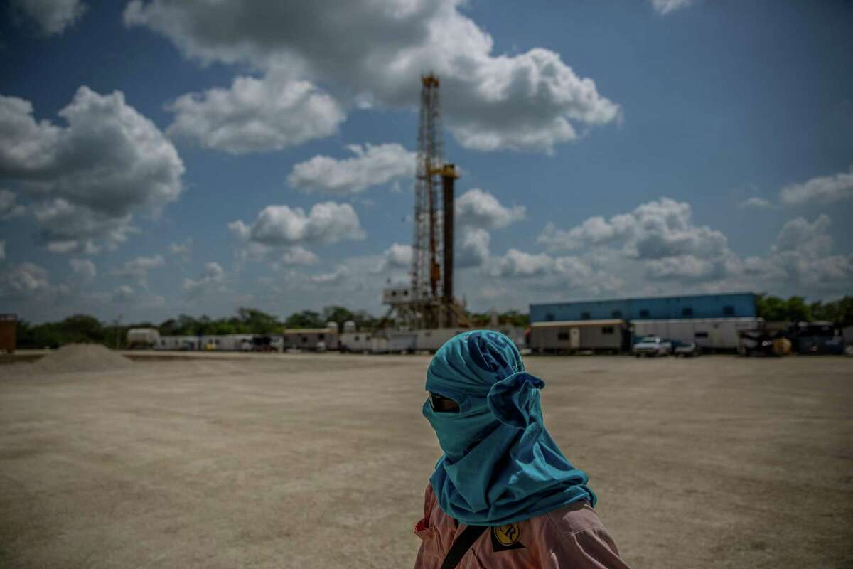 A PEMEX oil well in Nacajuca, Tabasco State, in the heartland of Mexico, whose voters favor presidential candidate Andres Manuel López Obrador.