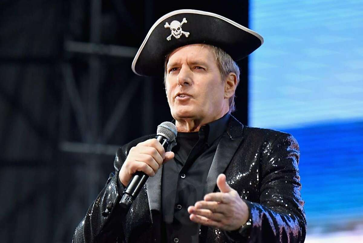 """Singer Michael Bolton joined The Lonely Island for """"Jack Sparrow"""" at Clusterfest on Friday, June, 1, 2018 in San Francisco."""