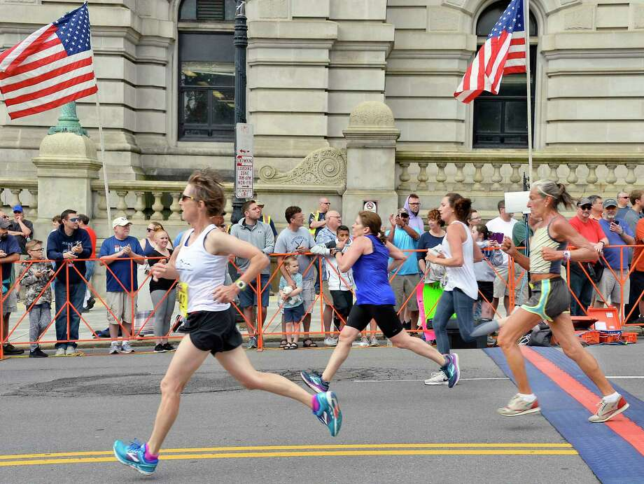 Runners finish the 40th anniversary Freihofer's Run For Women Saturday June 2, 2018 in Albany, NY.  (John Carl D'Annibale/Times Union) Photo: John Carl D'Annibale / 20043960A