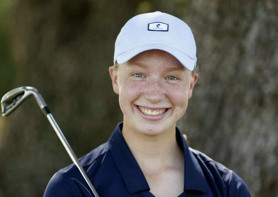 Brandeis' Emma McMyler is one shot out of the lead after the first round of the Region IV-6A tournament at the Republic Golf Club. Photo: Ronald Cortes / / 2018 Ronald Cortes