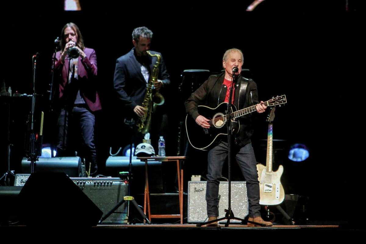 The Paul Simon Homeward Bound tour performance at Toyota Center.