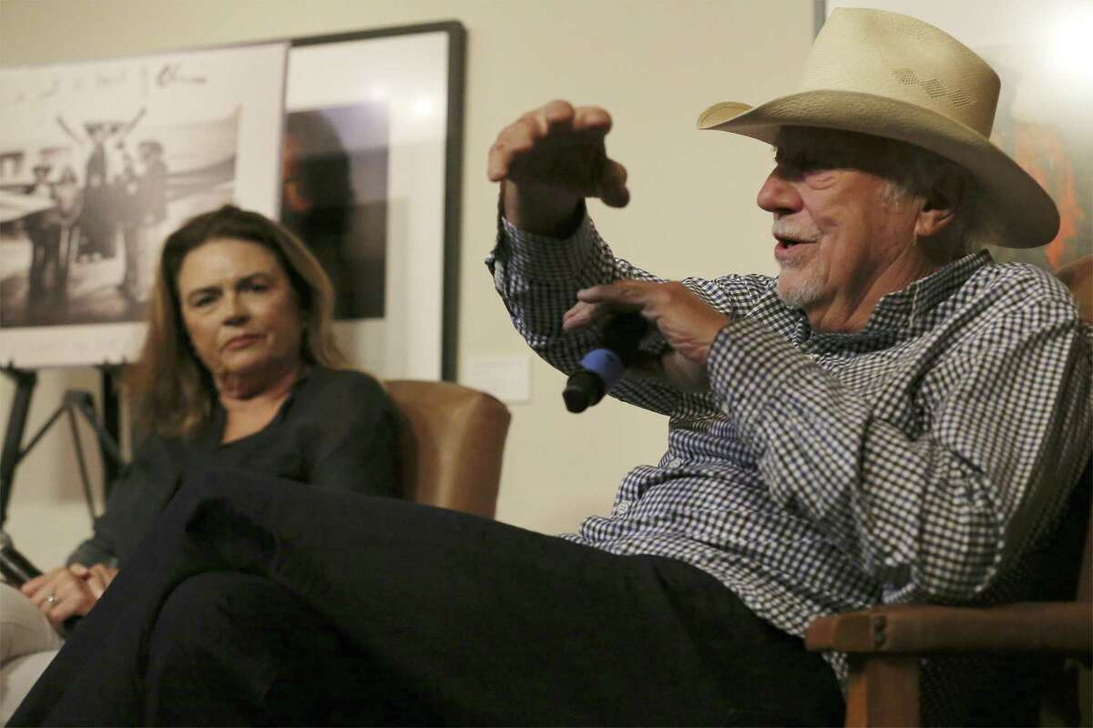 """Texas music icon Jerry Jeff Walker and his wife Susan sit for a rare interview together at The Wittliff Collections at Texas State University on Saturday, June 2, 2018. The event celebrates the current exhibition at The Wittliff, """"Viva Jerry Jeff"""" The Origins and Wild Times of a Texas Icon. An audience of nearly 200 gathered at Texas State University's Alkek Library to see Walker and his wife in a sit-down interview with Hector Saldana, curator of the Witliff Music Collection. San Antonio folk singer Rachel Laven started things off with singing Mr. Bojangles - a well-known hit song written by Walker. (Kin Man Hui/San Antonio Express-News)"""