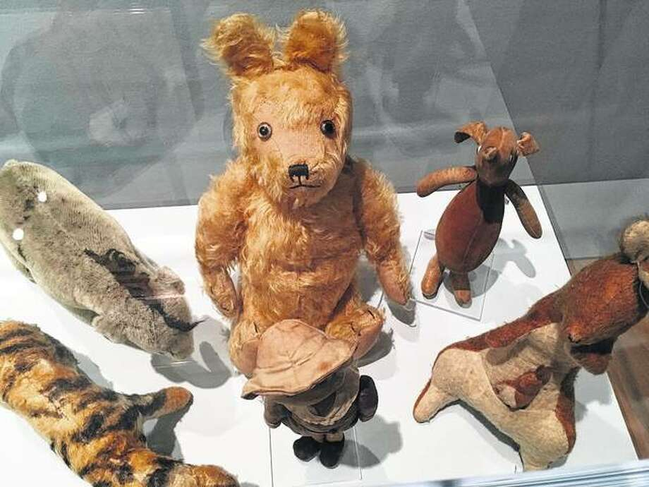 "Toys made around 1930 by the Teddy Toy Co. are early examples of Winnie-the-Pooh merchandise. Atlanta's High Museum of Art is hosting an exhibition called ""Winnie-the-Pooh: Exploring a Classic"" through Sept. 2. Photo:       Kate Brumback 