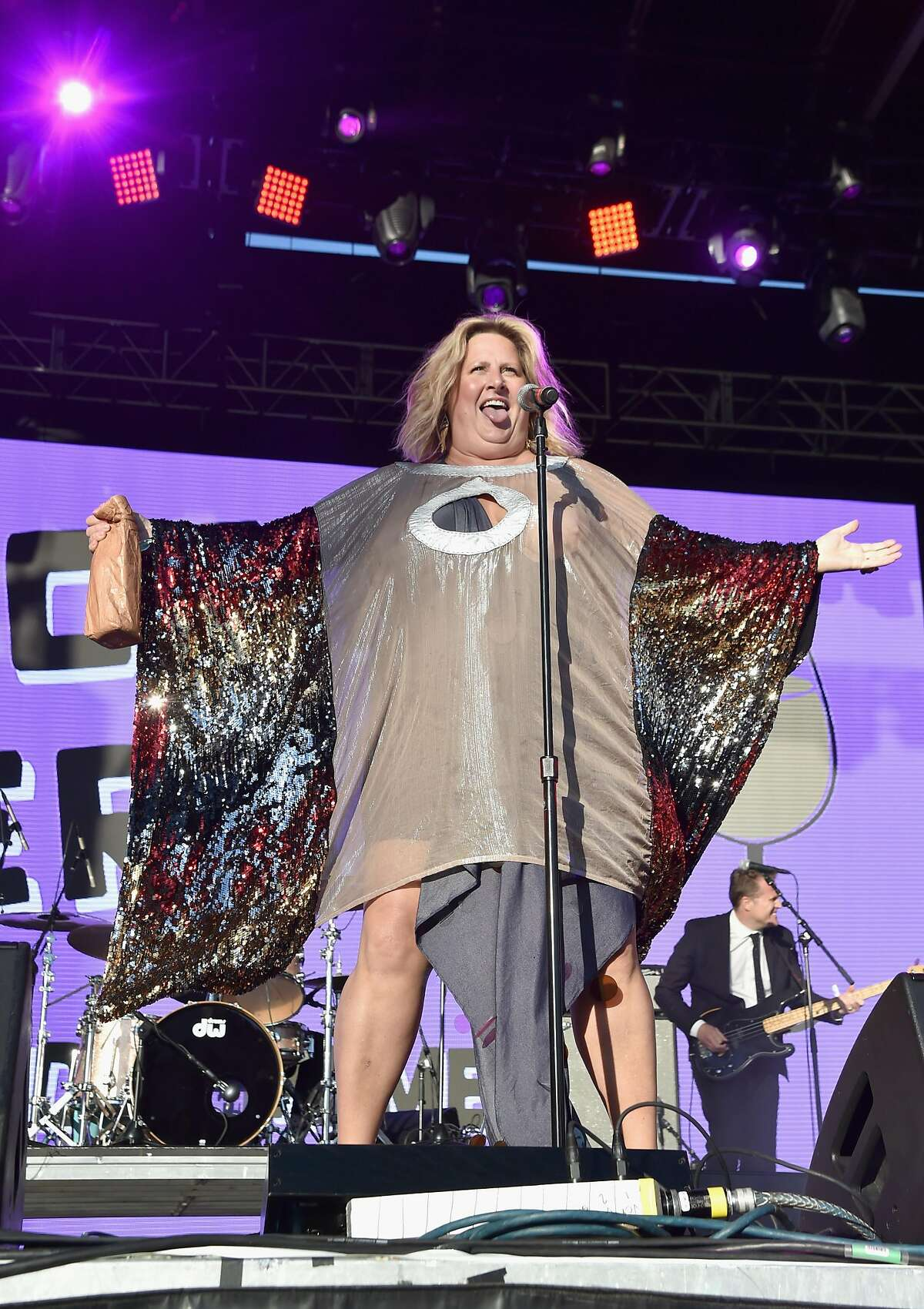 Singer and comedian Bridget Everett performed with her band the Tender Moments at Clusterfest on Saturday, June 2, in San Francisco.