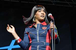 Tiffany Haddish performed a stand-up comedy set at Clusterfest on Saturday, June 2, in San Francisco.