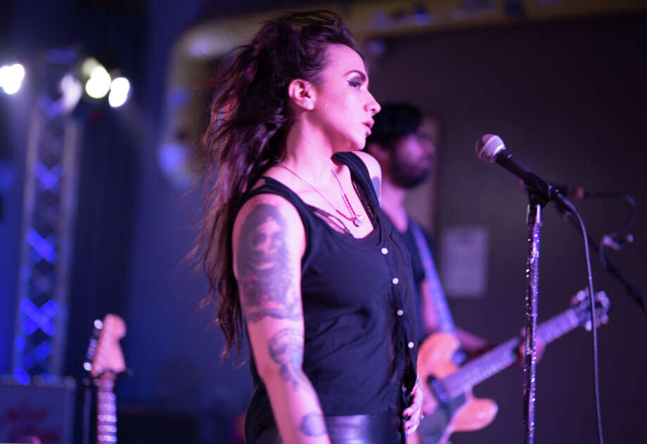 Girl in a Coma singer/guitarist, Nina Diaz, kicked off her Beat is Dead solo project Saturday, June 2, 2018, at the Limelight. Photo: B. Kay Richter