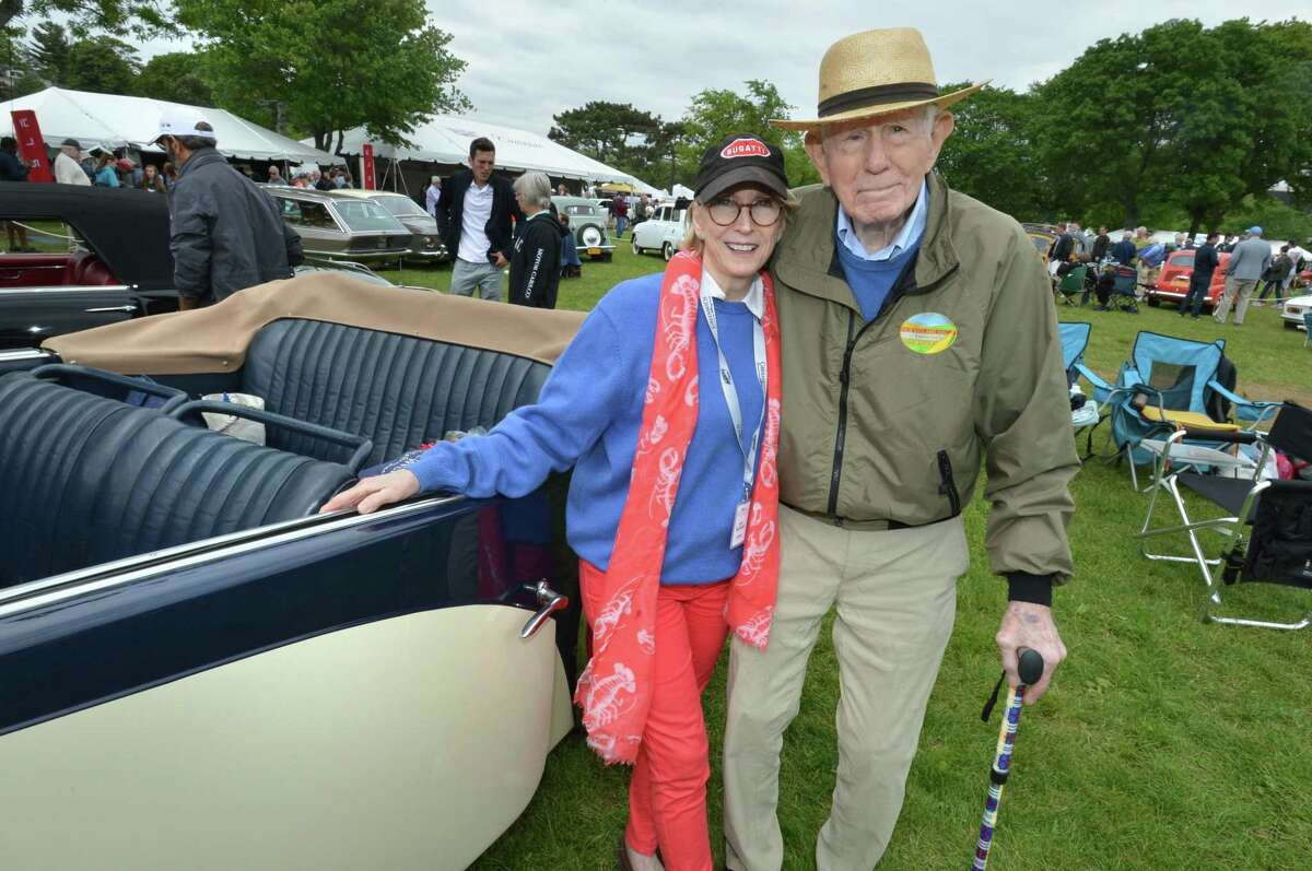 Weston's Alden Sherman and wife Jo Shields Sherman brought their 1938 Bugatti Type 57 C to the Greenwich Concours d'Elegance at Roger Sherman Baldwin Park in Greenwich Conn. on Sunday june 3, 2018