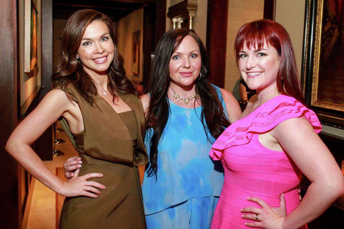Jentry Kelley, from left, Erica Gillum and Katie Tipper-McWhorter at the Denali Foundation cocktail party.