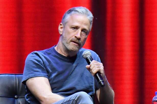 SAN FRANCISCO, CA - JUNE 03: In Conversation with Jon Stewart Moderated by San Francisco Chronicle's Peter Hartlaub on the Bill Graham Stage during Clusterfest at Civic Center Plaza and The Bill Graham Civic Auditorium on June 3, 2018 in San Francisco, California. (Photo by Jeff Kravitz/FilmMagic) *** Local Caption *** Jon Stewart
