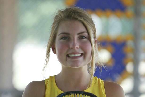 Alamo Heights tennis player Fiona Crawley. Crawley is the girls tennis player of the year. Taken at Robbins Tennis Center on Thursday, May 31, 2018.