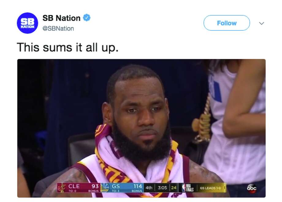 Sad LeBron  and the other best memes from Game 2 of the NBA Finals.   dfbee6d2725e9
