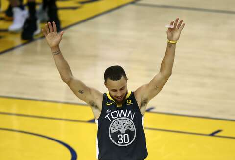 Golden State Warriors guard Stephen Curry (30) celebrates during the second  half of Game cade2d9a6