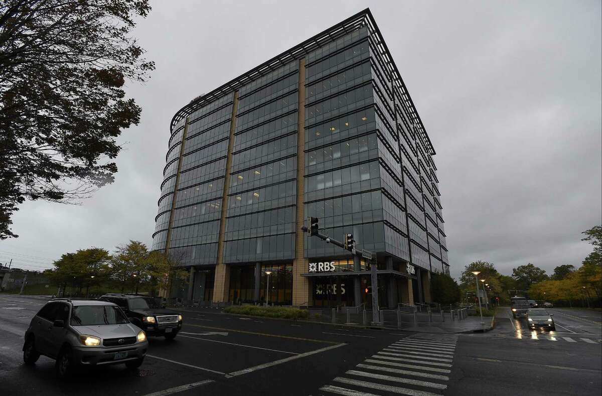 Royal Bank of Scotland is putting its downtown Stamford office building, at 600 Washington Blvd., up for sale. RBS shares the building with UBS, which is a tenant.