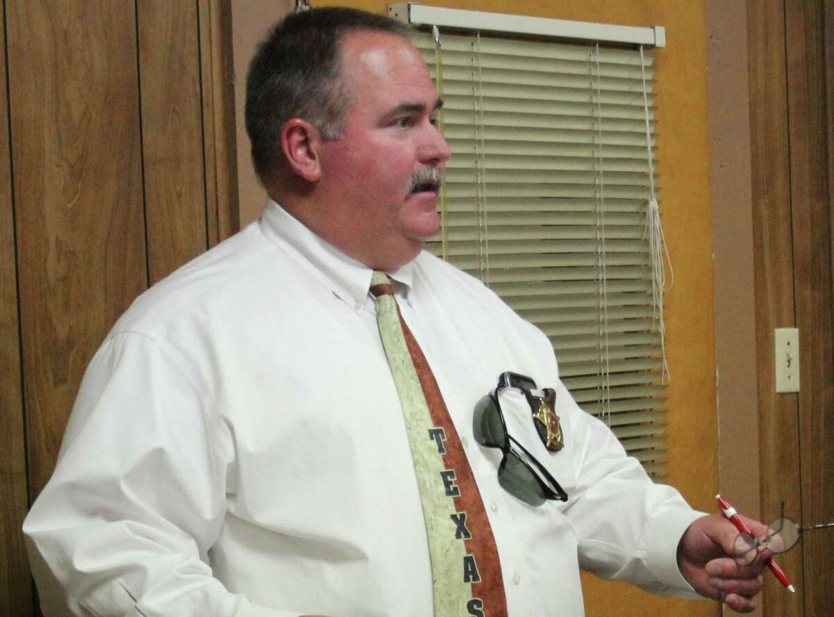 San Jacinto County Sheriff Greg Capers discusses different items on the May 30 commissioners court agenda such as the use of a maintenance trailer for maintenance and the bid for the repair of padding in the jail's suicide cell.