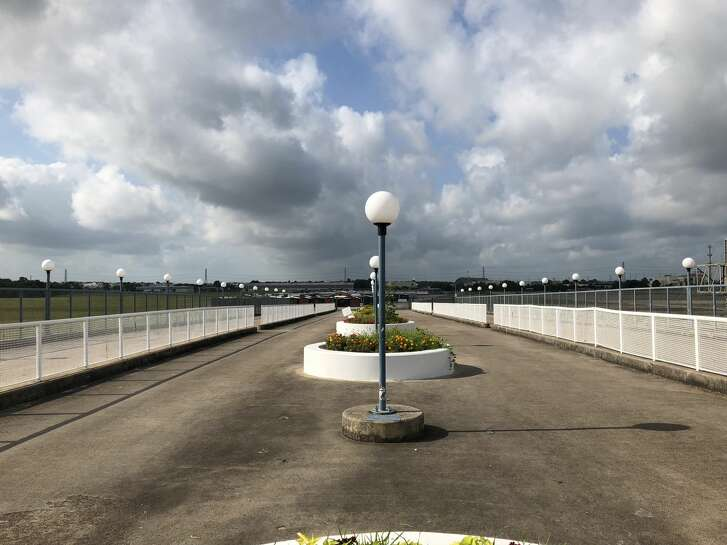 The view from the AstroWorld bridge is seen on May 31, 2018.